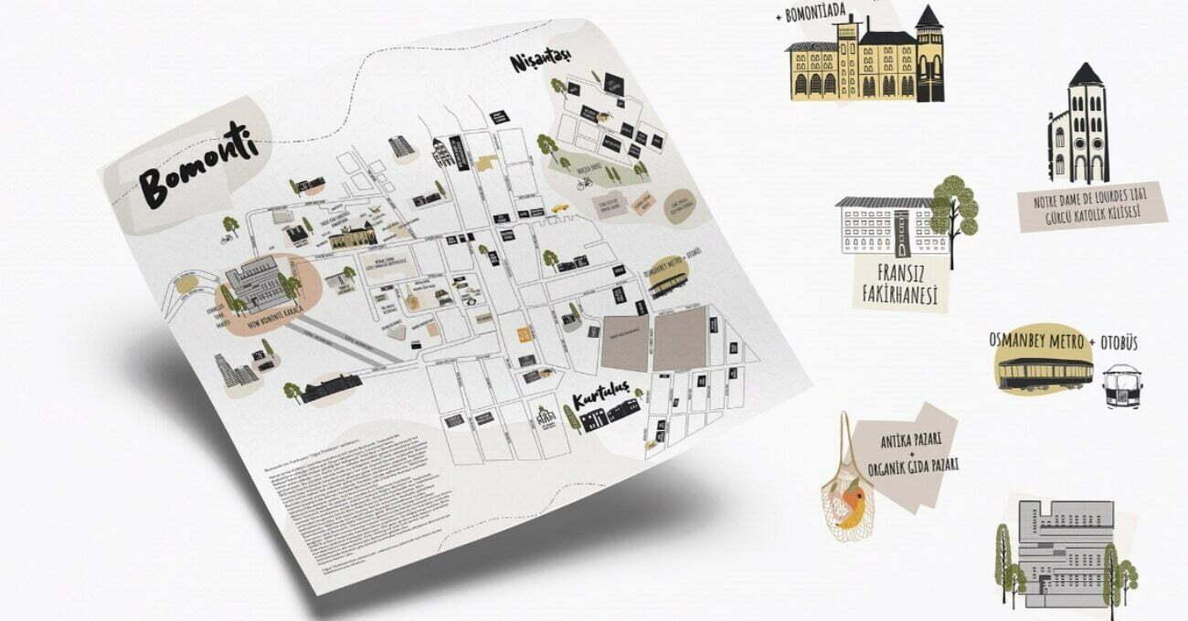 Semtin Dokusunu Yansıtan Mini Bomonti Haritası