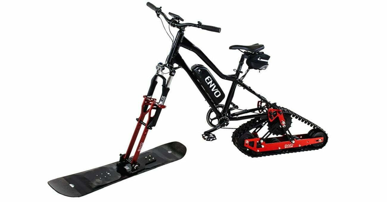 ENVO Kitiyle Bisikletler Elektrikli Kar Bisikletine Dönüştürülebiliyor