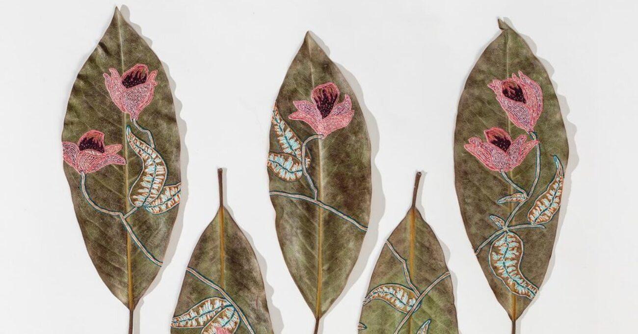 Kurutulmuş Yaprakları Süsleyen İşlemeler