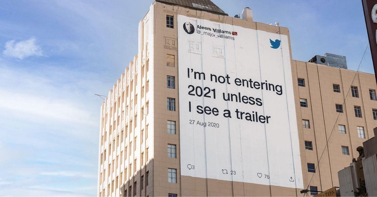 2020'yi Anlatan Tweet'ler Açık Hava Kampanyasına Dönüştü