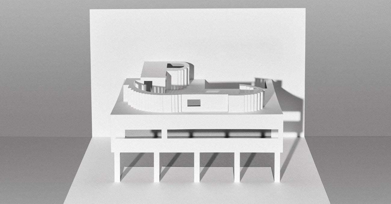 Kirigamiyle Le Corbusier Yapıları İnşa Etmek