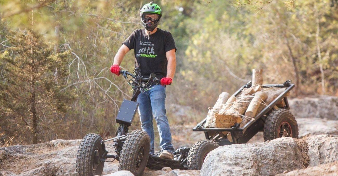 Zorlu Araziler İçin Tasarlanmış Elektrikli Scooter: EZRaider