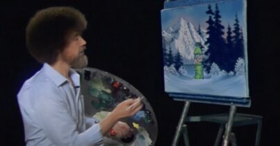 Bob Ross Mountain Dew