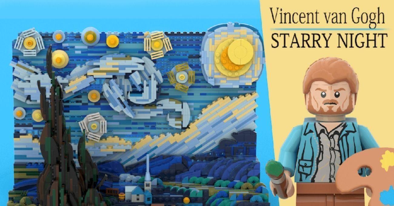 Van Gogh'un Yıldızlı Gece Tablosu LEGO Setine Dönüşüyor