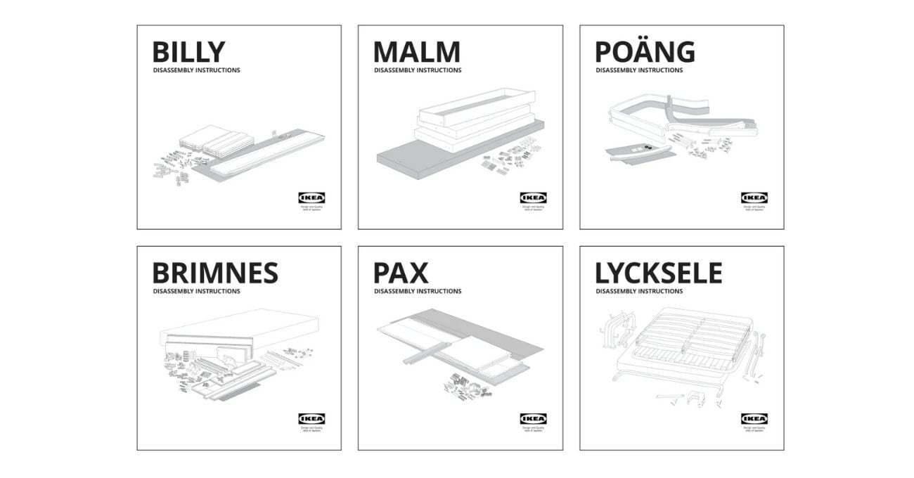 IKEA'dan Ürünlerin Ömrünü Uzatan Sökme Kılavuzları