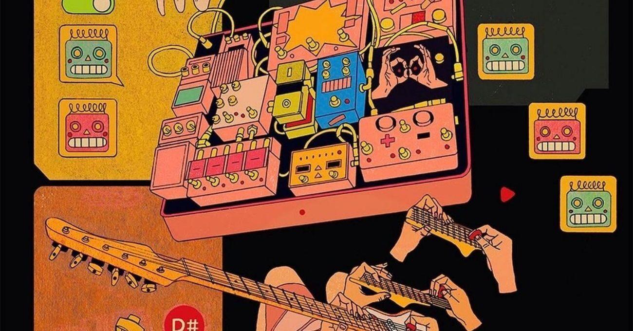 Müzikten, Japon Sakız Kağıtlarından ve Oyuncaklardan Esinlenen Toma Vagner İllüstrasyonları