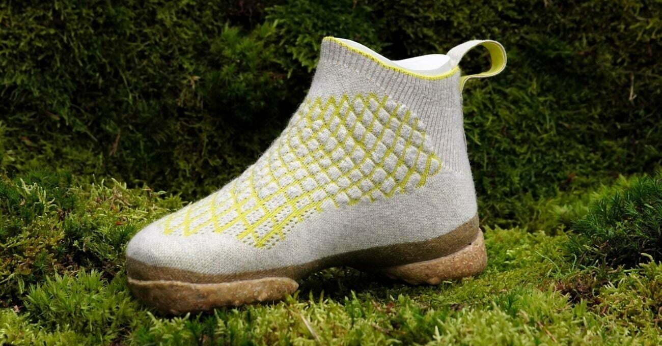3B Örgü Köpek Tüylerinden Yapılmış Kompostlanabilir Ayakkabı