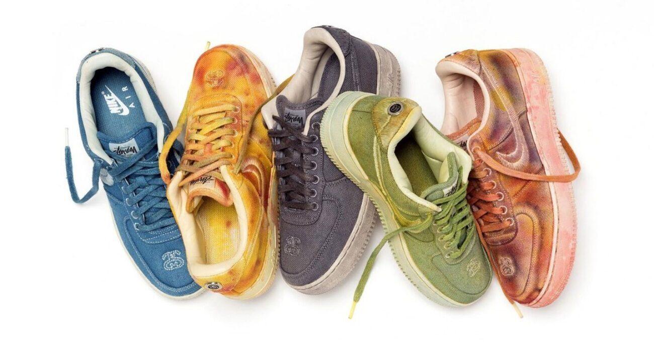 Elle Boyanmış Rengarenk Nike Air Force 1 Ayakkabılar