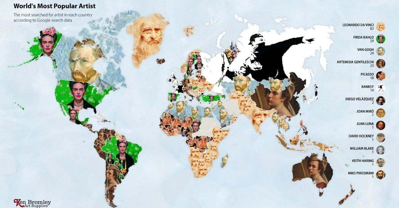 En Çok Google'lanan Sanatçılar Haritası