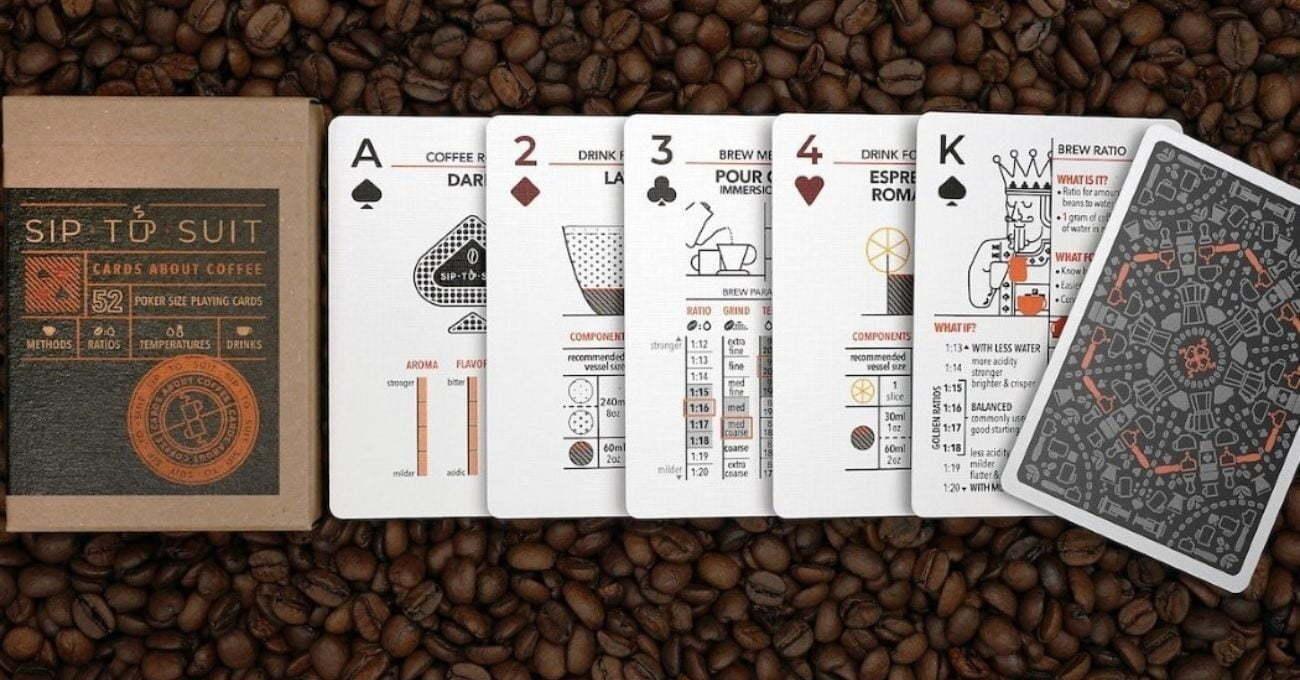İyi Kahve Yapmanın İpuçlarını Veren İskambil Destesi