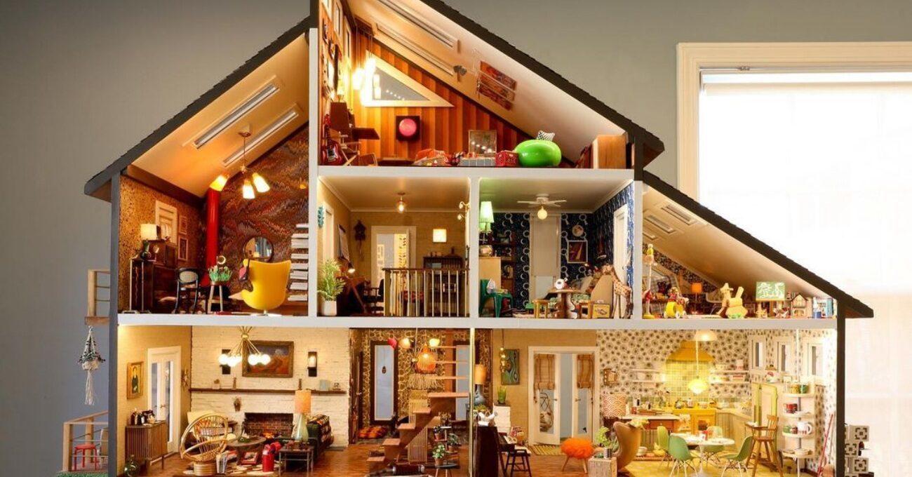 İnce Detaylarla Bezeli Gerçekçi Minyatür Ev