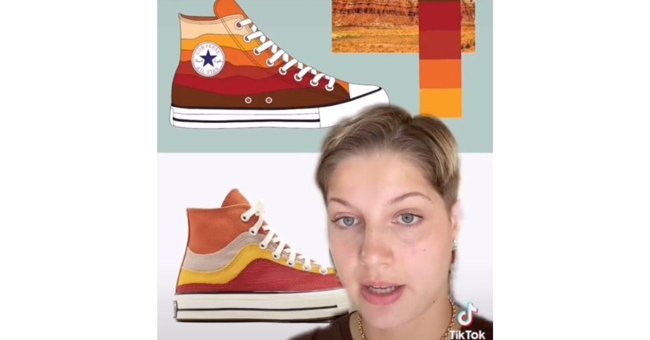 """Converse'e Staj Başvurusu Yapan TikTok Kullanıcısından """"Tasarımlarım Çalındı"""" İddiası"""