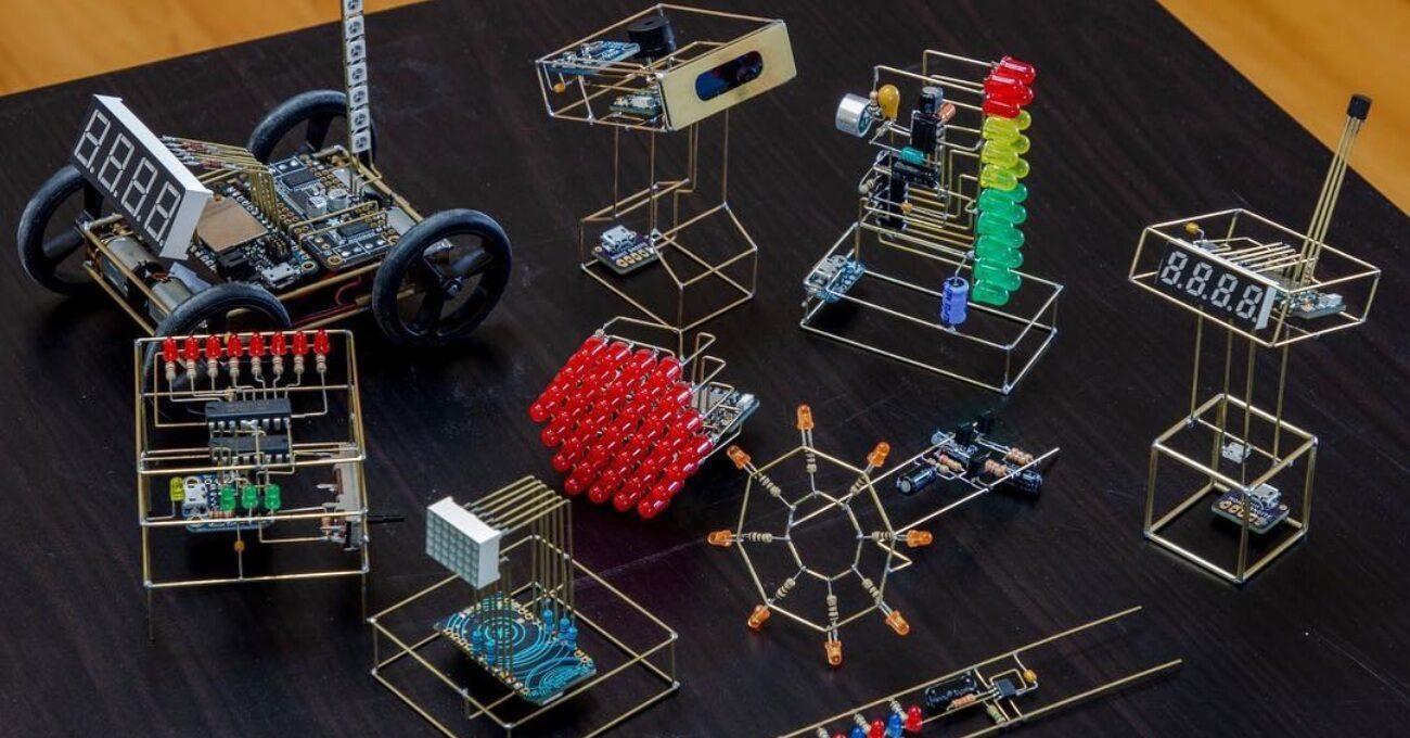 Elektronik Devrelerle Yaratılan Minik Heykeller