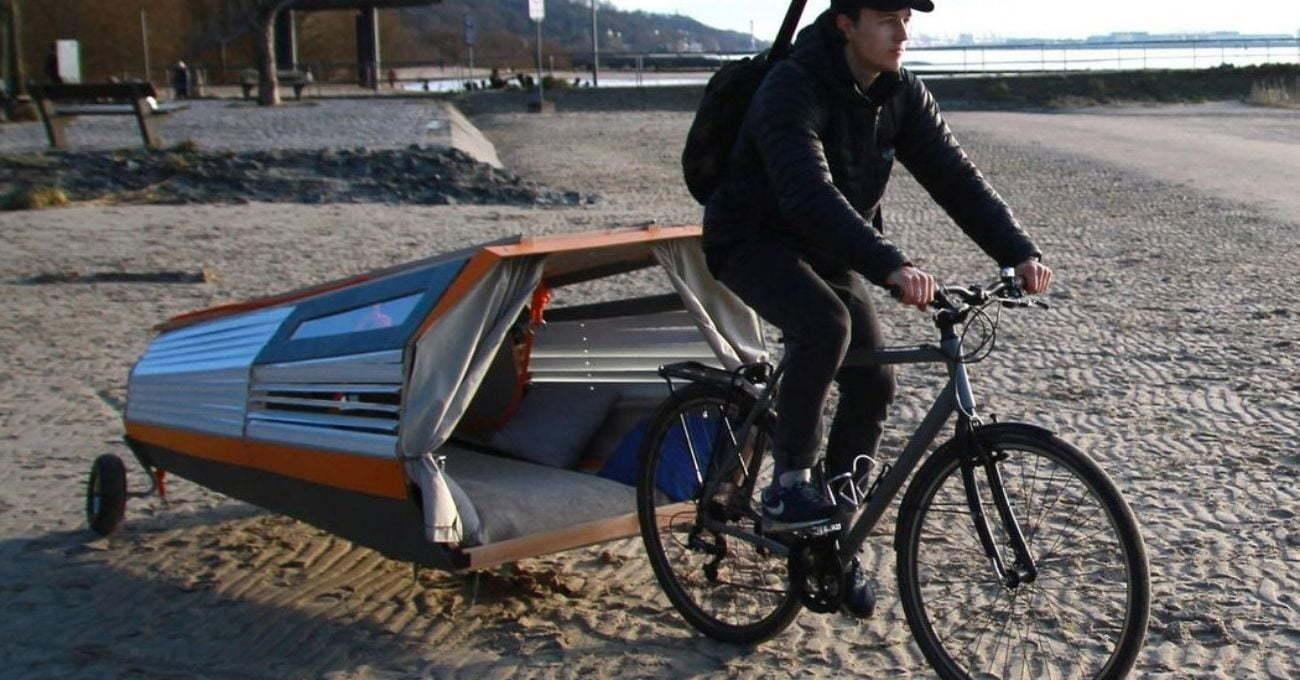 Bisikletle Taşınabilen Ağaç Evi
