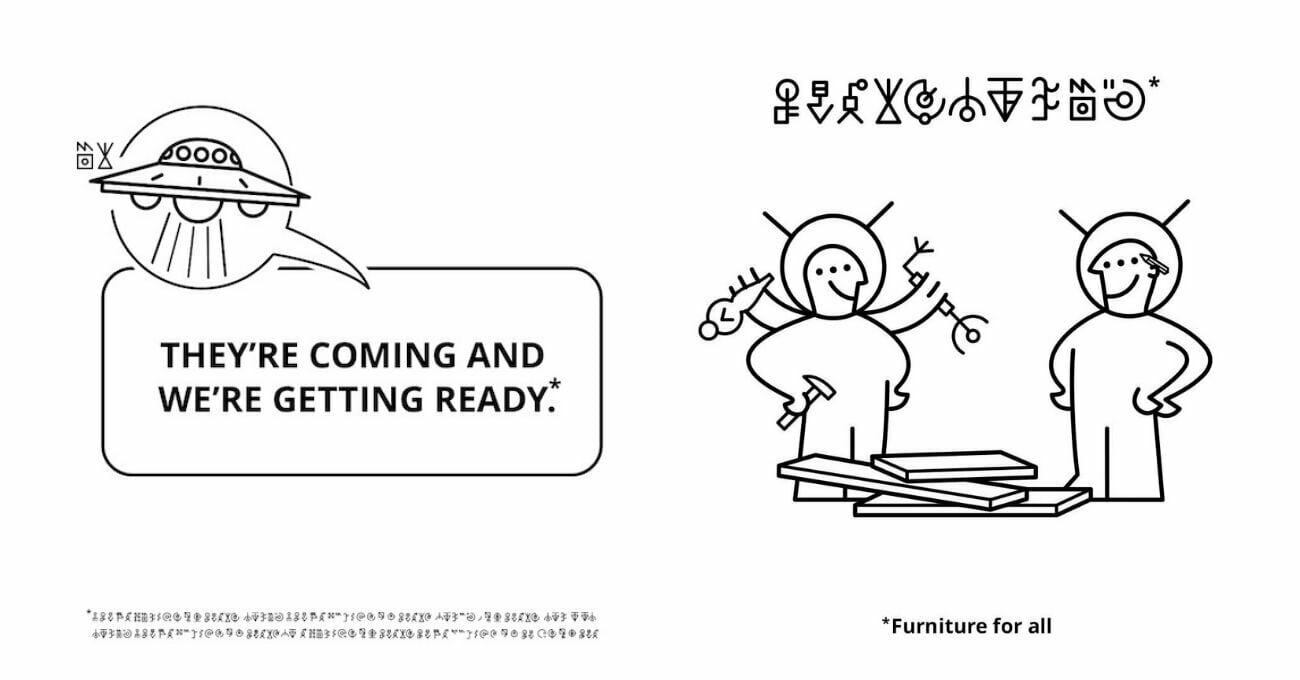 IKEA'dan Uzaylılar İçin Montaj Kılavuzları