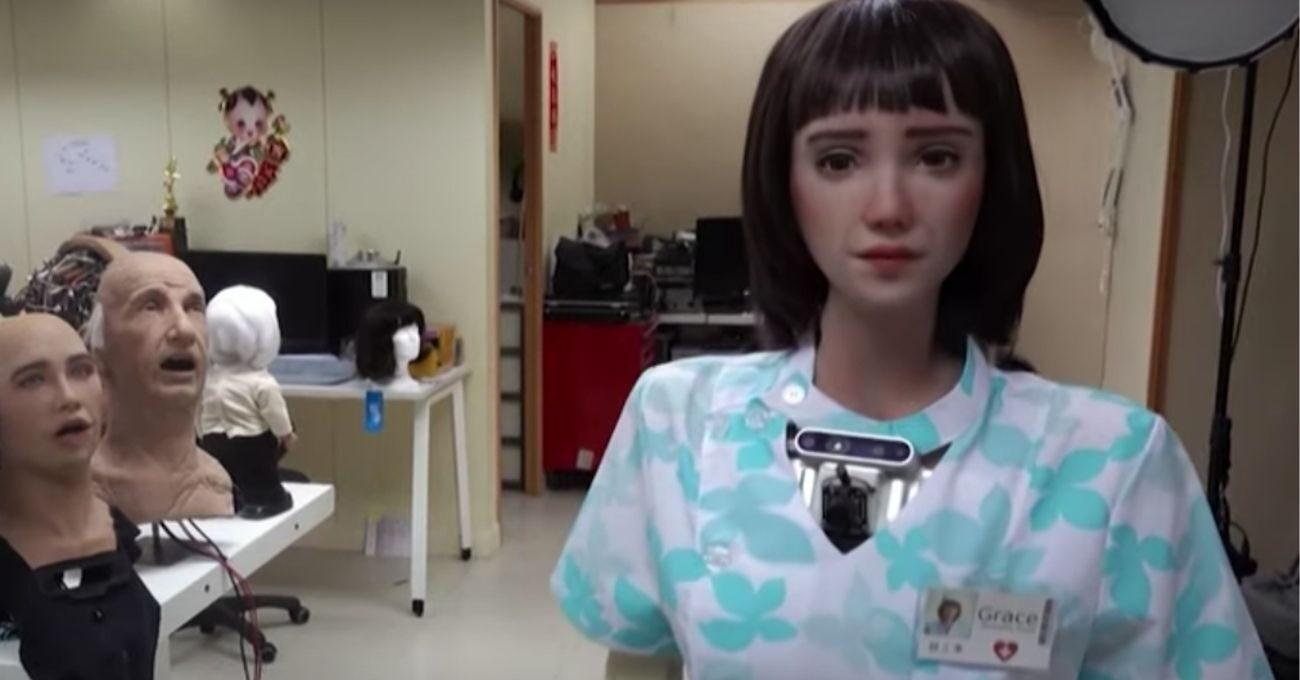 Robot Hemşire Grace İzolasyondaki Hastalara Bakacak