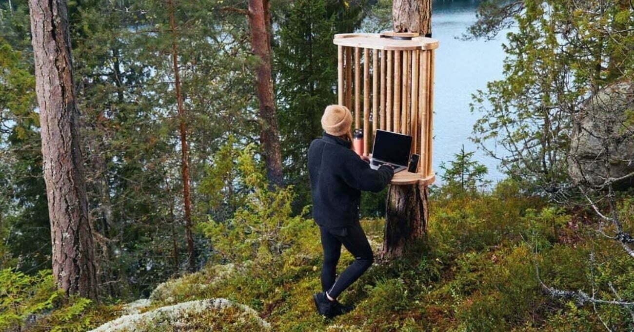 Finlandiya'da Ormanlara Kurulan Mikro Çalışma İstasyonları