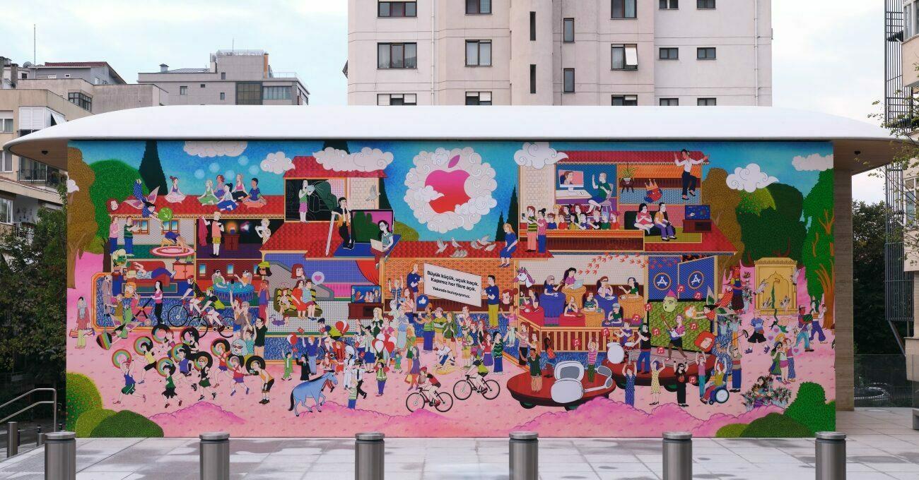 Apple'ın Türkiye'deki İlk Sokak Mağazası Murat Palta'nın Eseriyle Açılıyor