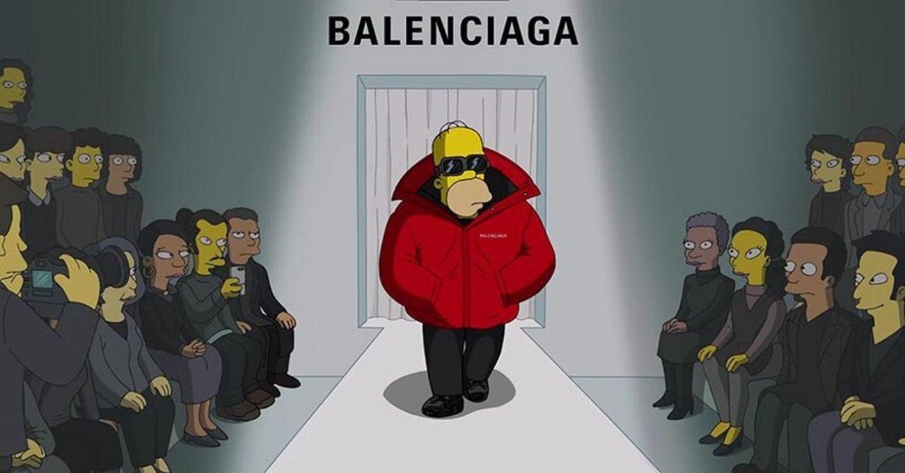 Balenciaga Paris Moda Haftası'nda The Simpsons Evreninde